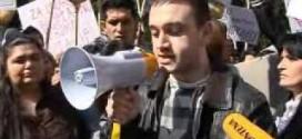 TV IN: Romi i Egipcani protestovali isped Vlade Crne Gore 11. marta 2011.